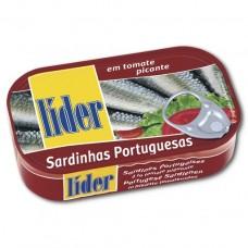 Сардины в остром в томатном соусе, 120, Lider