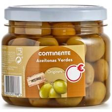 Зеленые оливки с косточкой, 290 г, Continente
