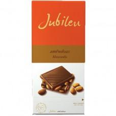 Молочный шоколад с миндалем, 100 г, Jubileu
