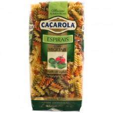 Паста Фузилли из твердых сортов пшеницы с овощами, 500 г, Caçarola
